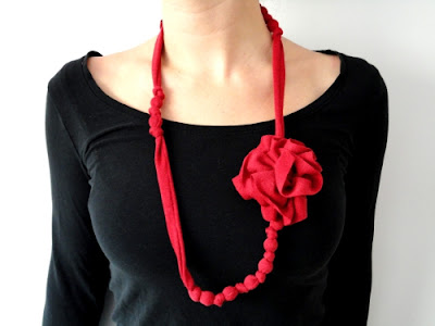 Fabric DIY Necklace