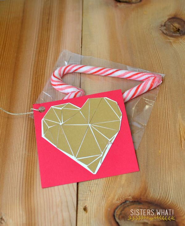 Geometric heart valentine, free printable