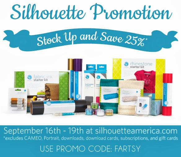 Silhouette Sale: 25% Off at artsyfartsymama.com
