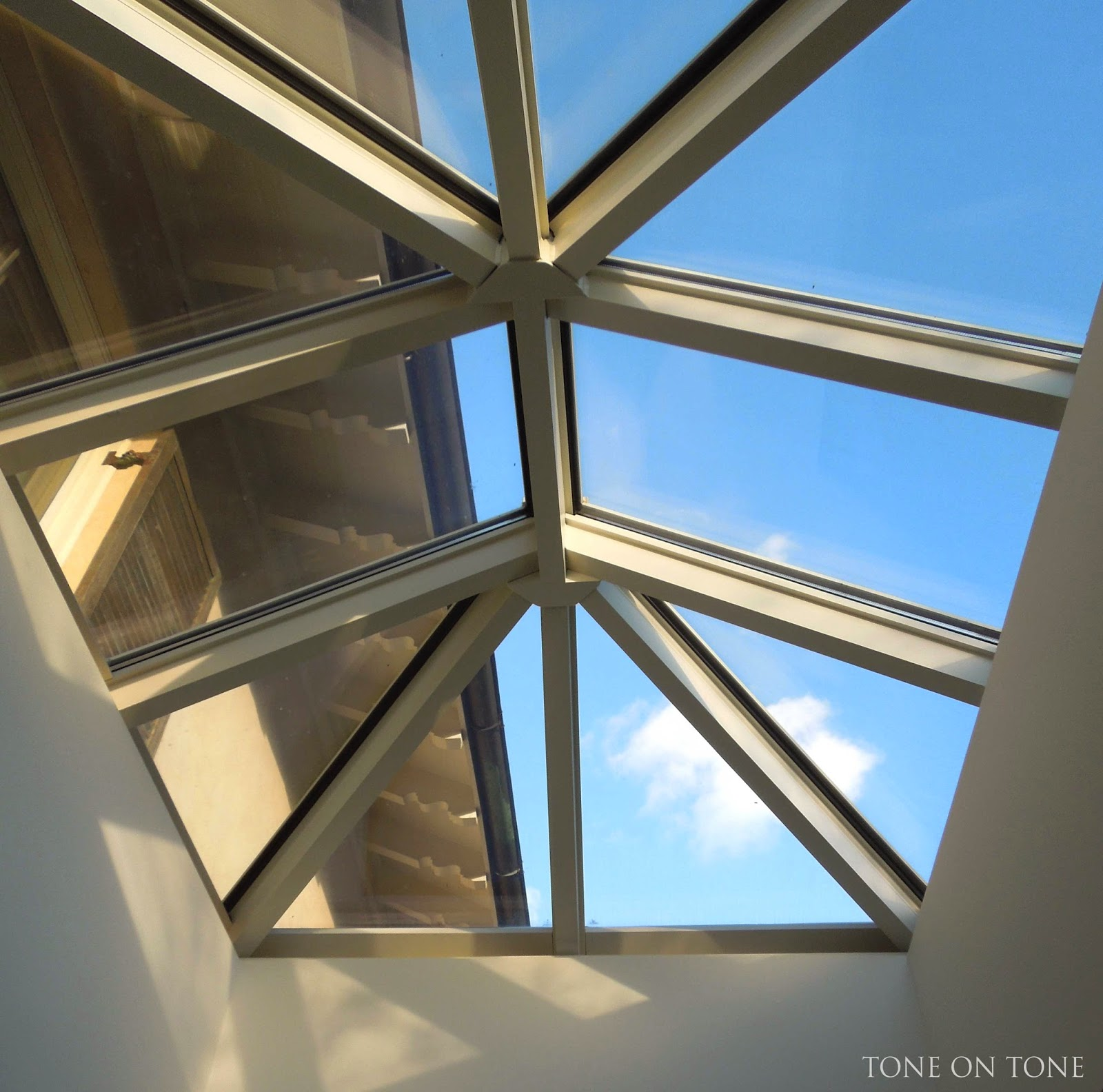 Tone on tone small spaces in our home for Skylight home
