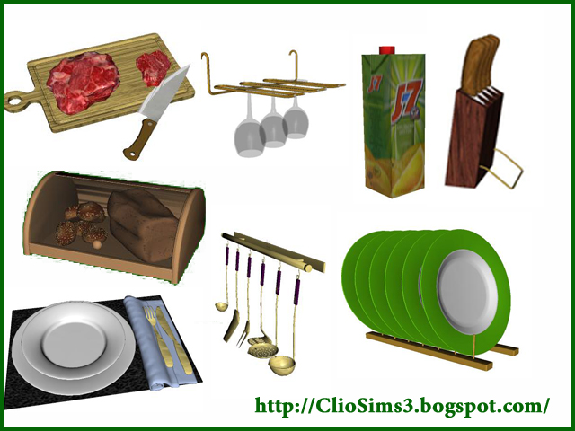 My sims 3 blog kitchen decor by clio for Sims 3 kitchen designs