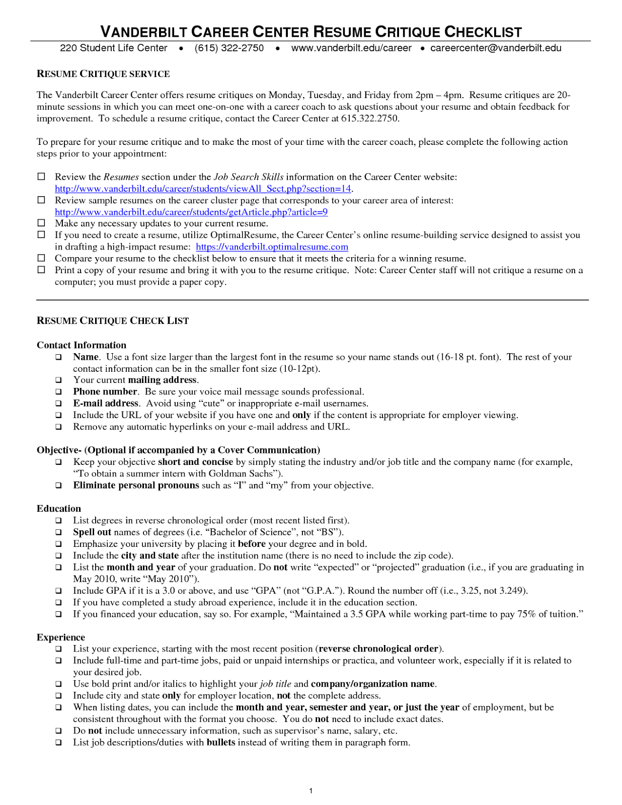 Questions to ask when making a resume