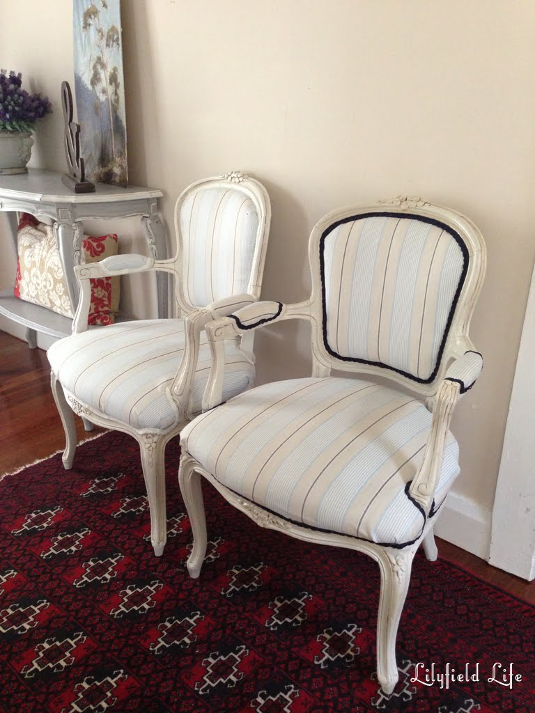 lilyfield life two vintage french louis armchairs. Black Bedroom Furniture Sets. Home Design Ideas