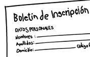 Hoja Inscripción