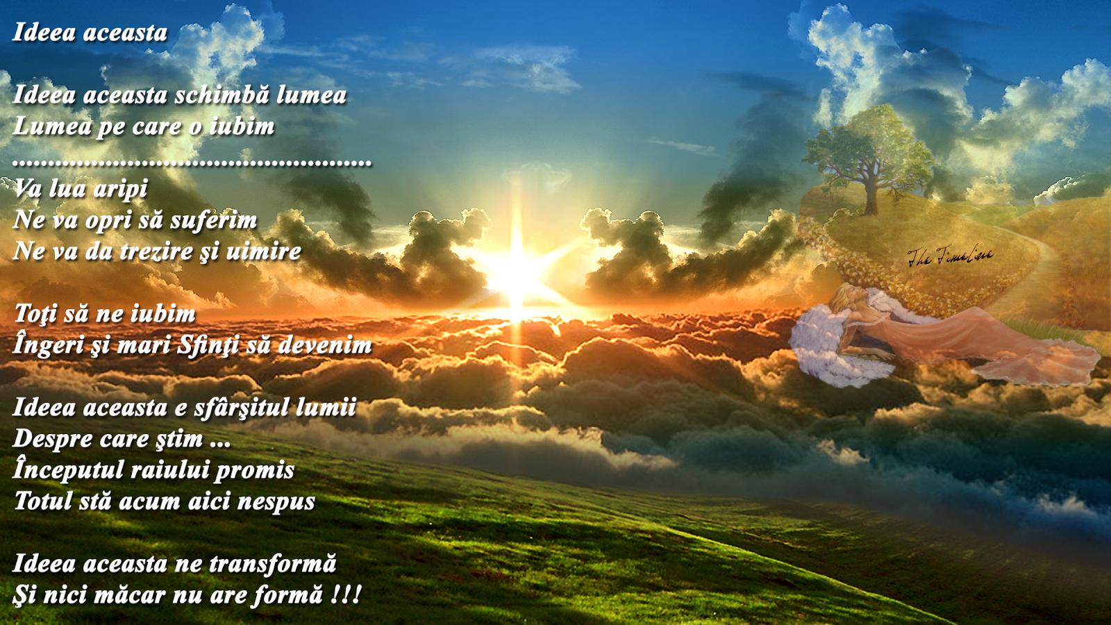 ideea aceasta schimbare pace iubire devenire rai pe pamant Maria Teodorescu Bahnareanu Wrinkles on my Timeline