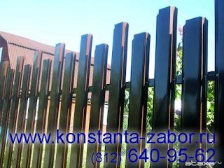 Забор штакетник из профлиста. Фото 8