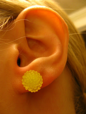 cabochon flower earring