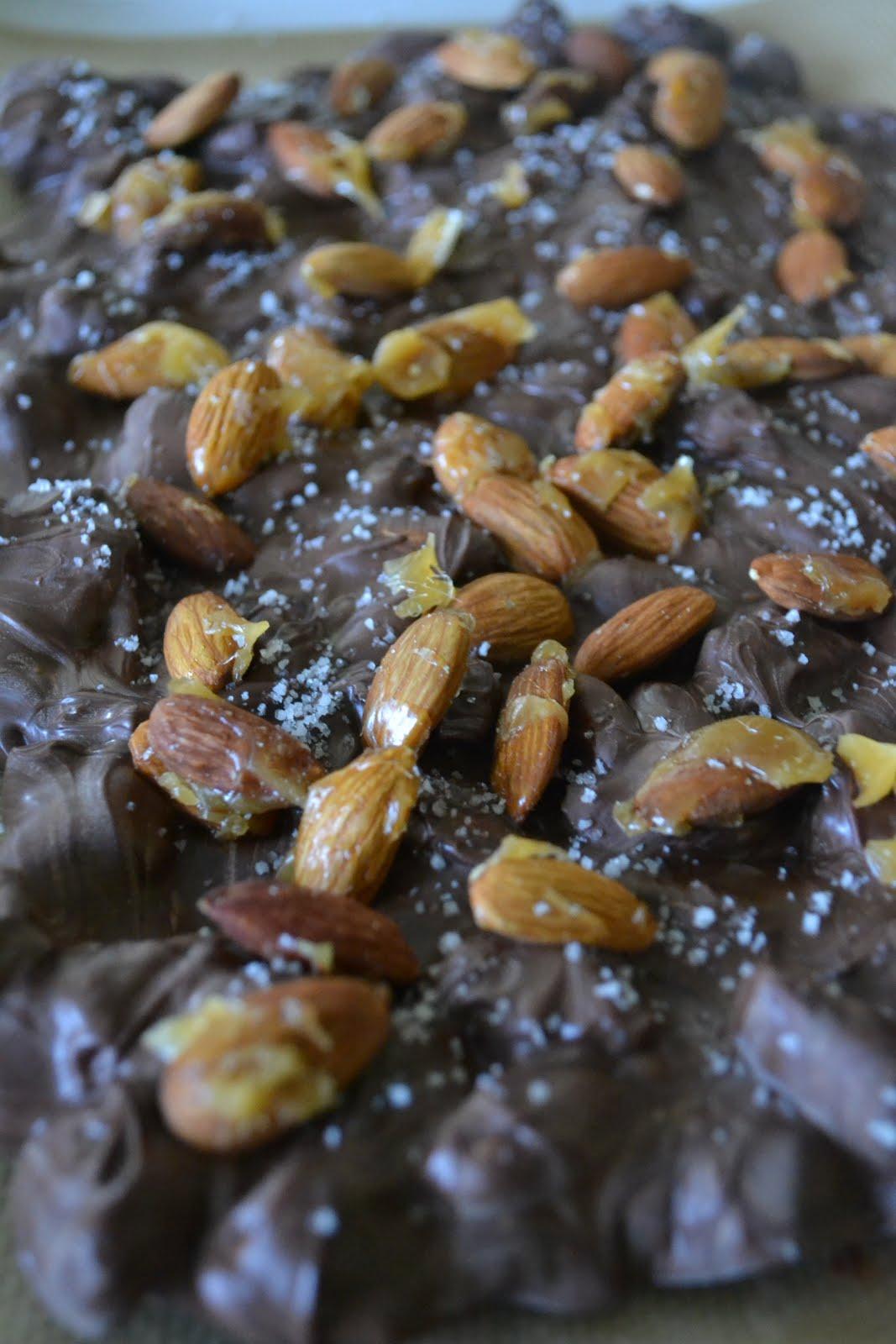 Chocolate-Almond Bark With Sea Salt Recipes — Dishmaps