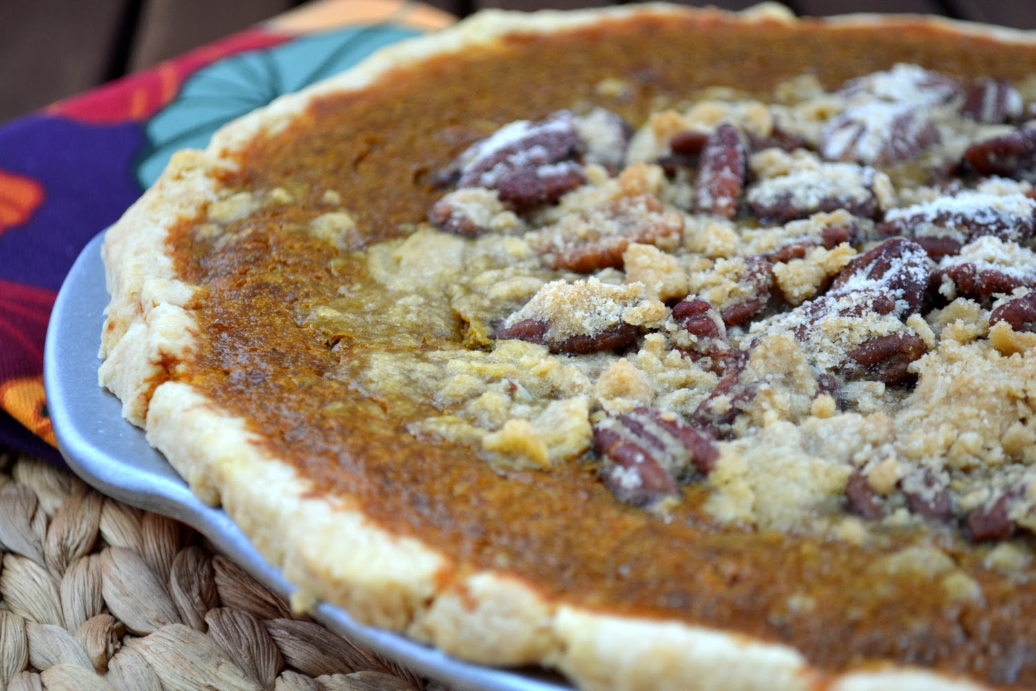 Bourbon Pumpkin Pie with Pecan Streusel recipe