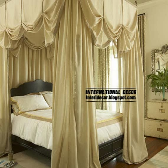 Best 10 ideas to create relaxation bedroom decor - Ideas for canopy bed curtains ...
