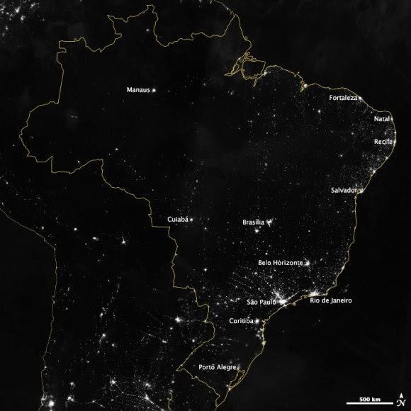 Foto Kota-kota Penyelenggara Piala Dunia Brasil dari Luar Angkasa