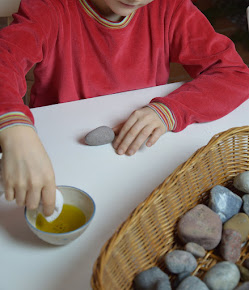 Steine polieren und wieder zum Glänzen bringen