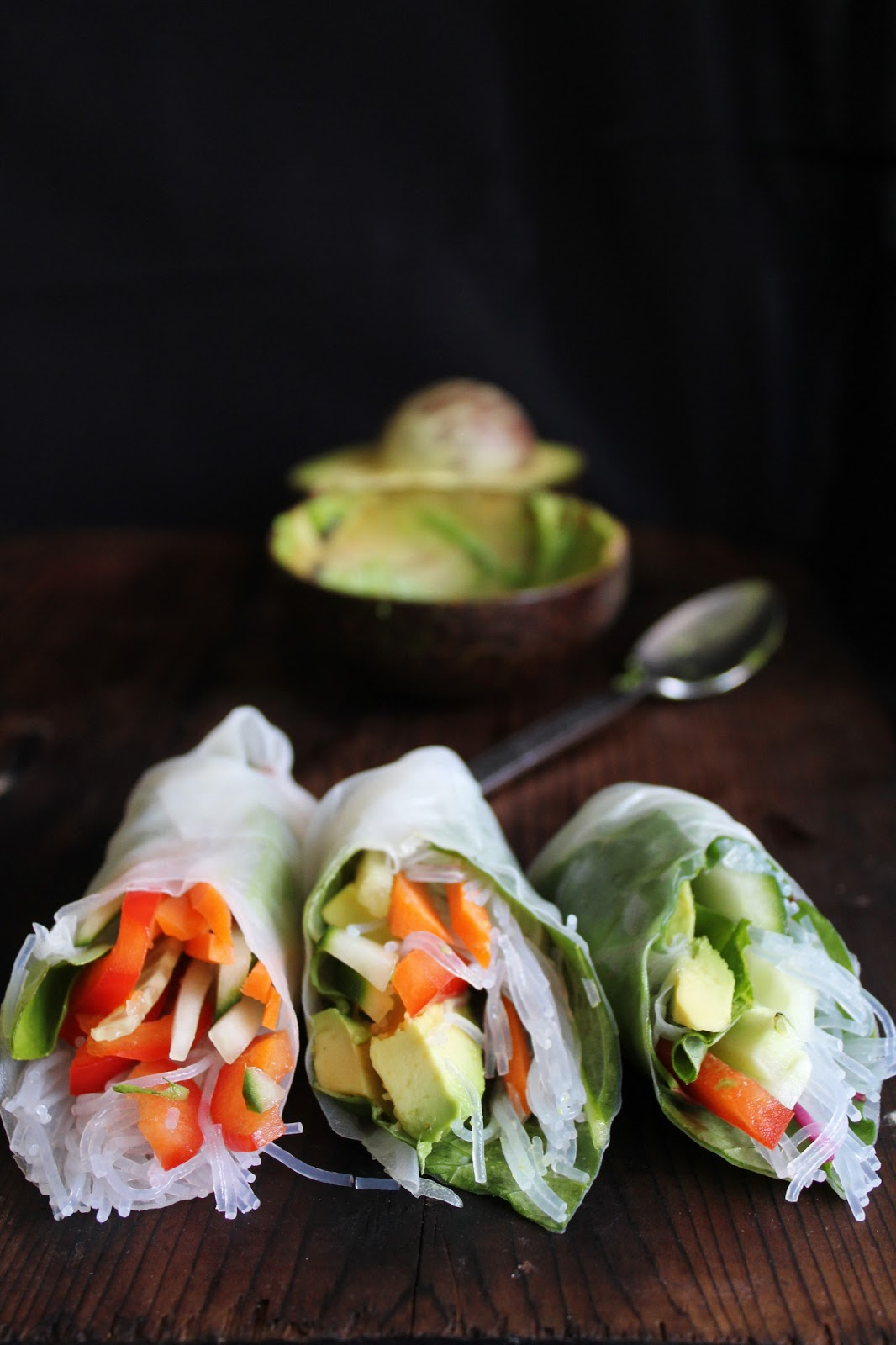 This Rawsome Vegan Life: fresh summer rolls with basil ...
