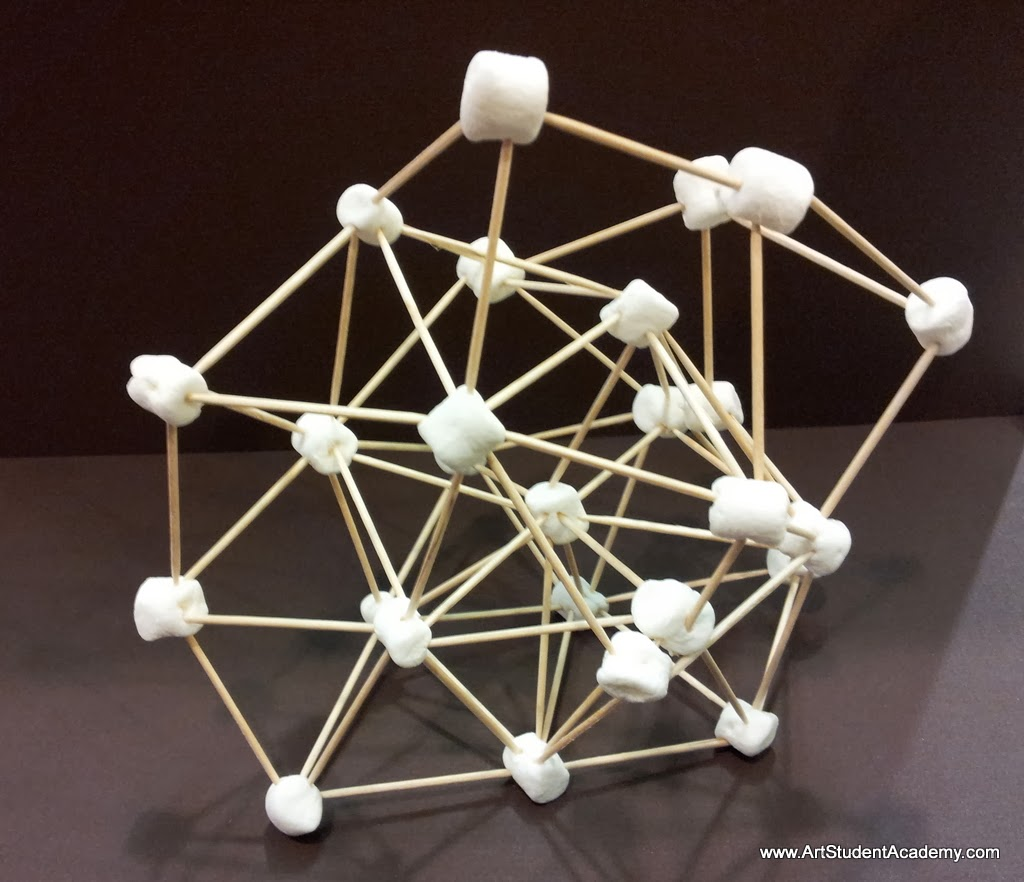 Art Student Academy Toothpicks And Marshmallows And