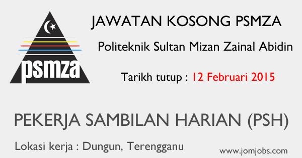 Jawatan Kosong Politeknik Sultan Mizan Zainal Abidin 2015