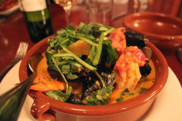 Latin seafood chupe at Masona Grill, West Roxbury, Mass.