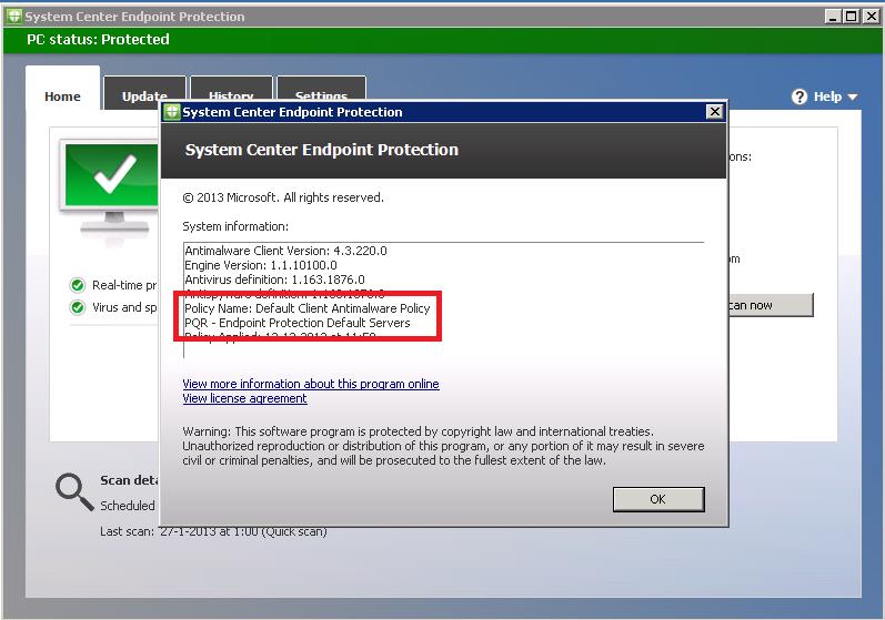 Software policies microsoft microsoft antimalware signature updates