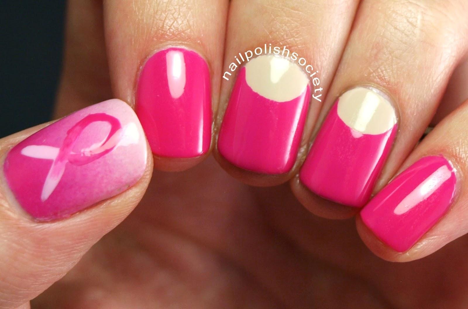 Nail Polish Society: Breast Cancer Awareness Nails: Save the Ta Tas