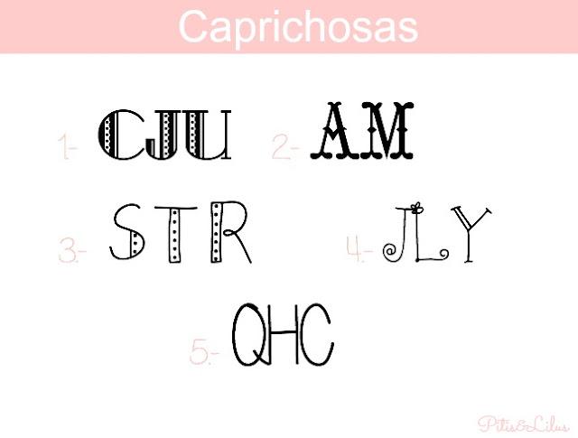 TIPOGRAFIAS, MARCOS Y BORDES PARA MONOGRAMAS:CAPRICHOSAS