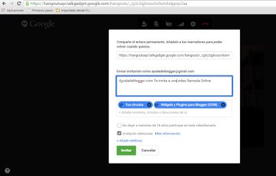 ¿Cómo añadir el botón de Hangout en mi blog Blogger?