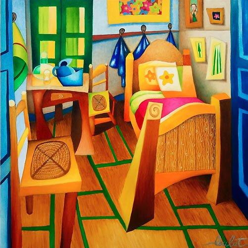 La Chambre Jaune Vincent Van Gogh - Maison Design - Edfos.com