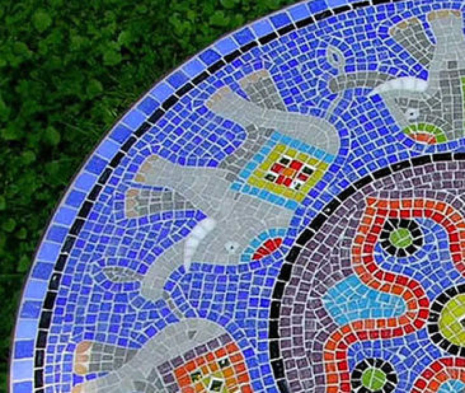Casa papel e tesoura decorar com mosaico for Mosaicos para jardin