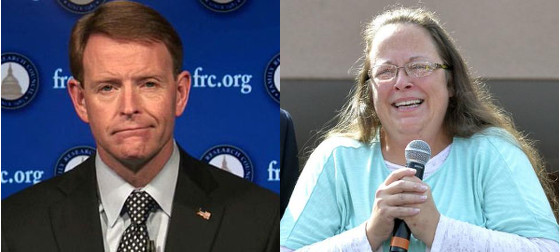 Tony Perkins and Kim Davis