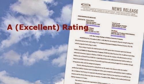 Ratings from A M Best Insurance company