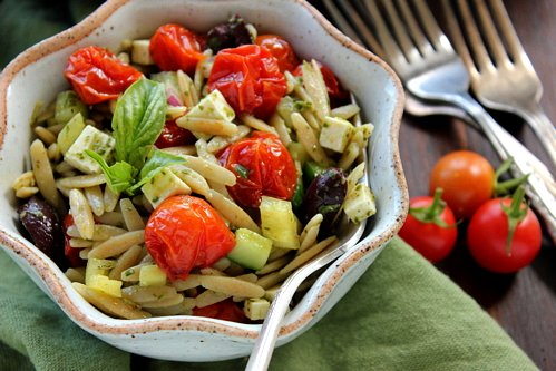 Cherry Tomato Orzo Salad Recipes — Dishmaps