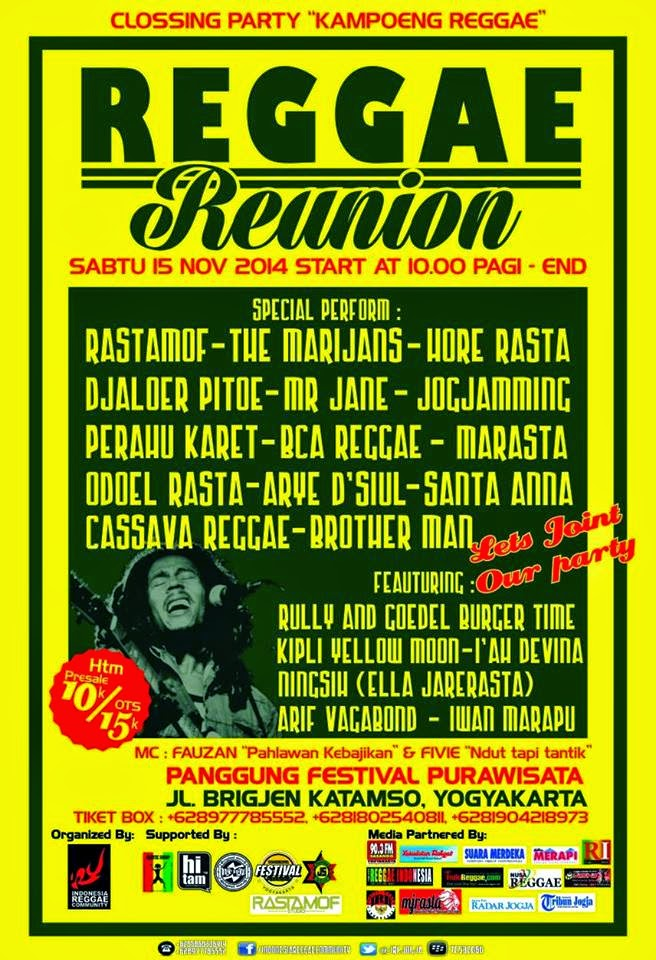 "Event : REGGAE UNION ""Clossing Kampong Reggae"""