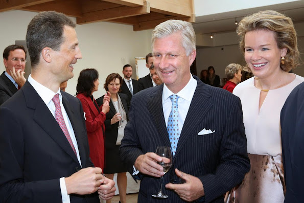 Hereditary Prince Alois von und zu Liechtenstein,  the king Philippe and Queen Mathilde