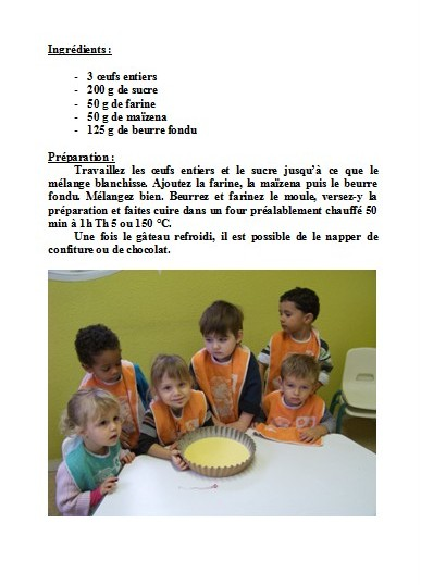 Cr che petit bouchon atelier cuisine 10 novembre 2011 for Objectif atelier cuisine en creche