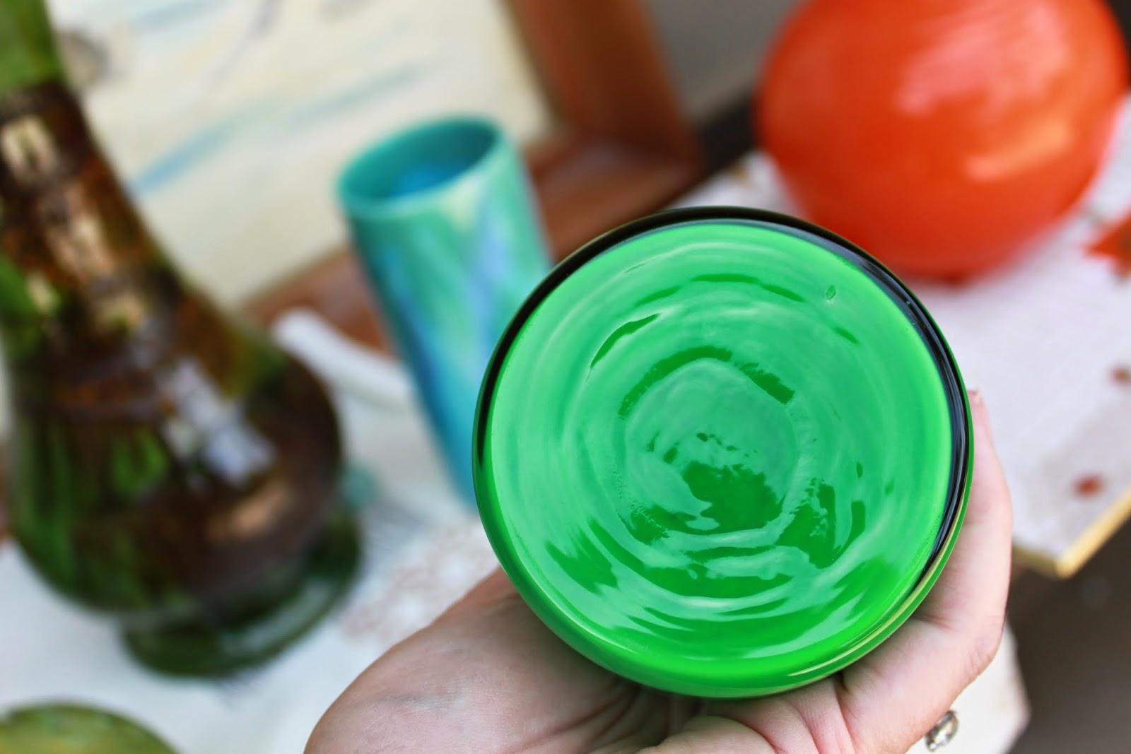 Hoop Vase 1950s Green