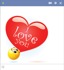 I love you emoticon