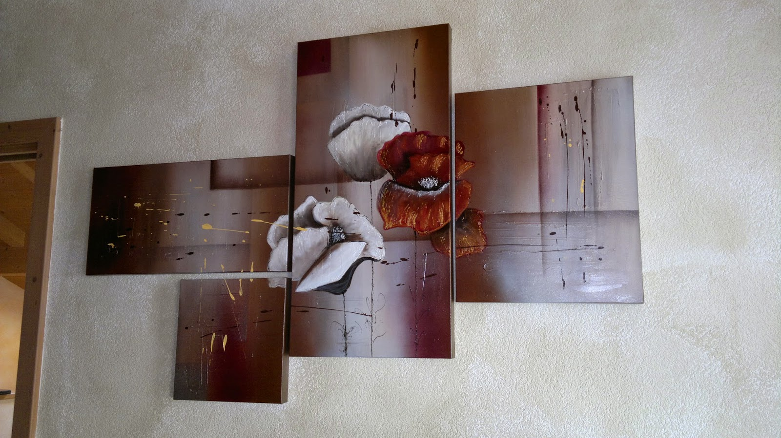 immagini quadri moderni fiori