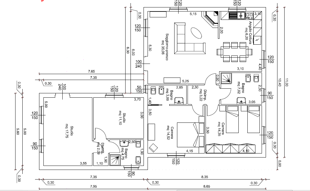 Progetti di case in legno casa 138 mq for Progetti di case moderne a un solo piano