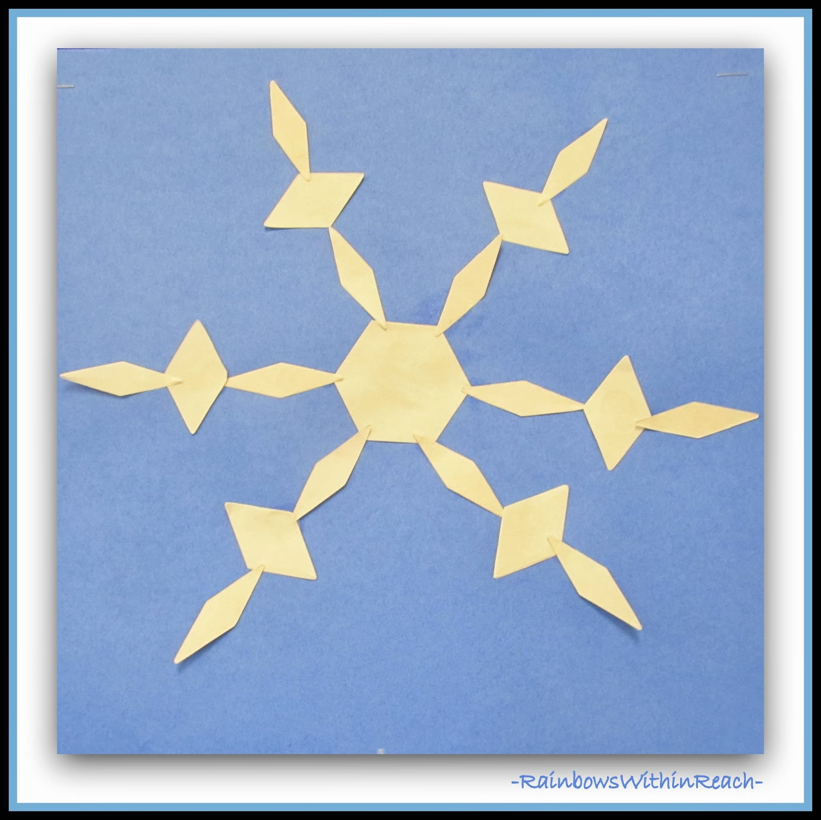 Kindergarten Snowflake Symmetry (from RainbowsWithinReach)