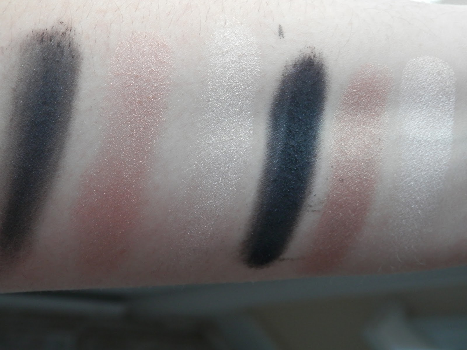 Lorac Starry Eyed Baked Eye Shadow Trio in Movie Star swatch
