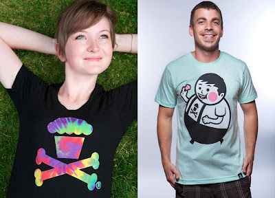 Johnny Cupcakes Summer 2012 Collection - Tie Dye Crossbones & Seafoam Big Kid T-Shirts