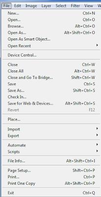 Fungsi-fungsi tool pada menubar File