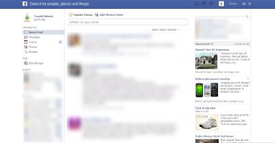 Tampilan Facebook Dengan Fitur Gres Graph Search