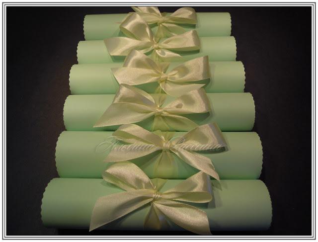 Свитки. Приглашения на свадьбу цвета мяты