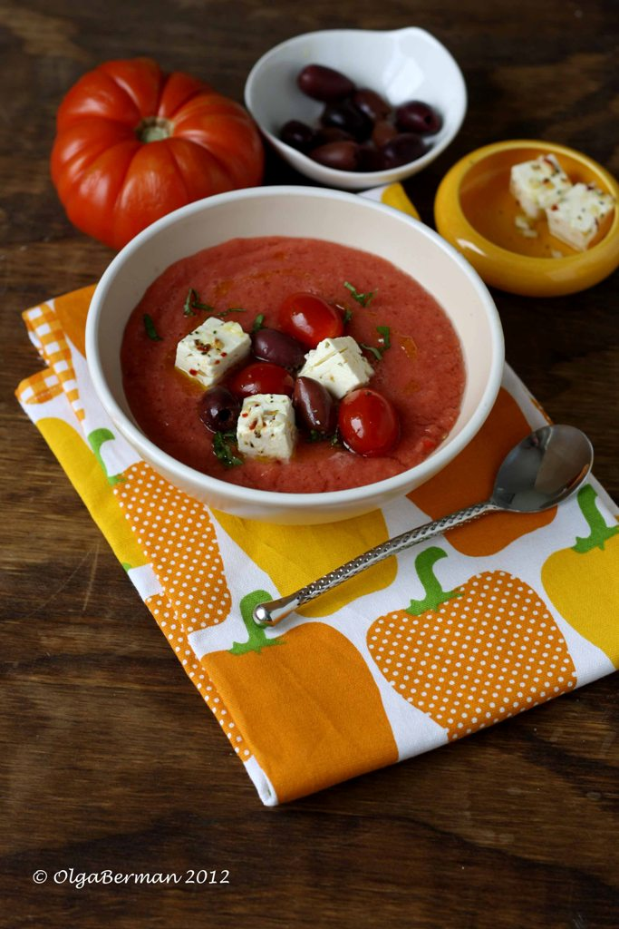 Tomato: Dress Up Your Gazpacho: Gazpacho with Marinated Feta, Olives ...