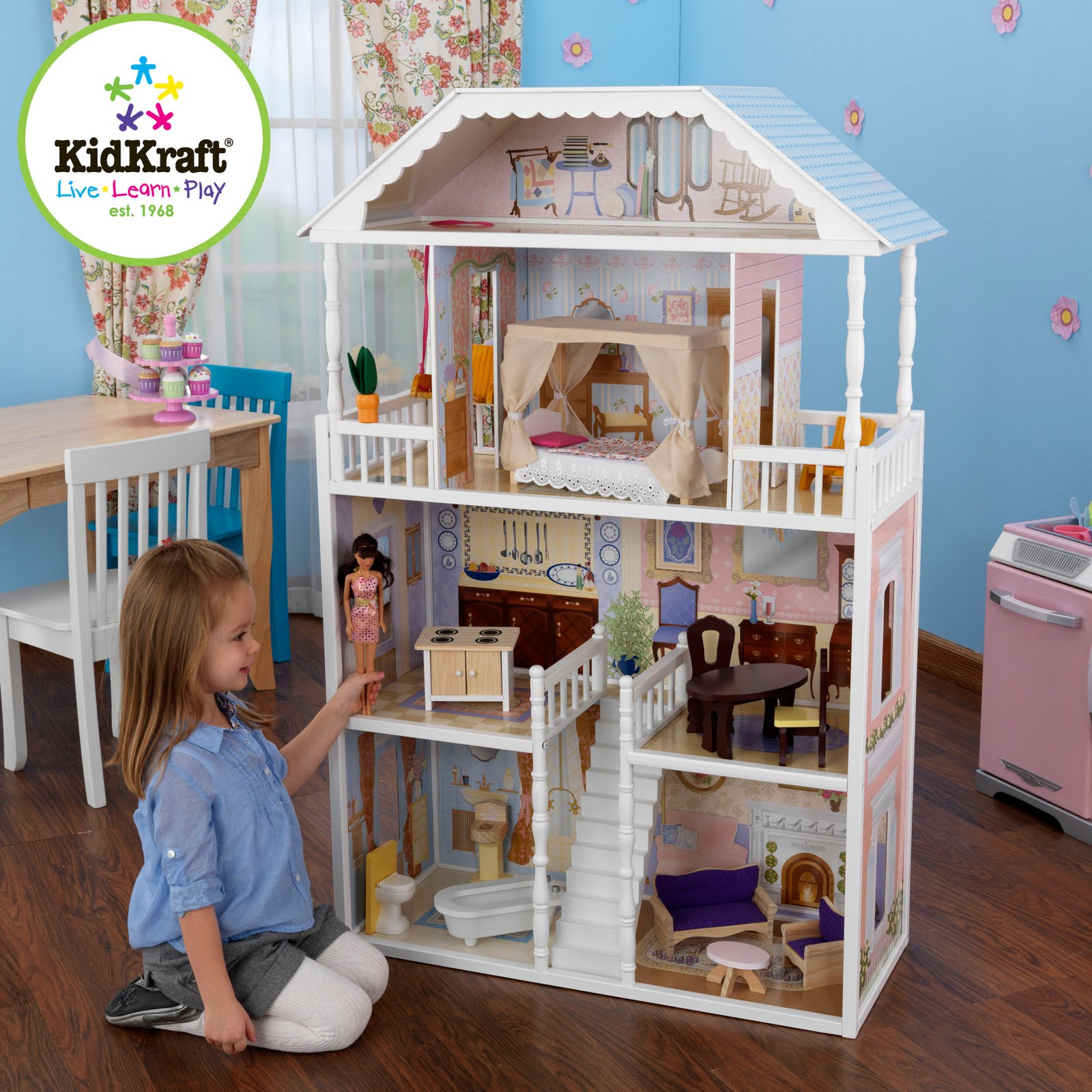 Kidkraft Toys Furniture Savannah Dollhouse Voted One Of The Top 10 Dollhouses For Play By