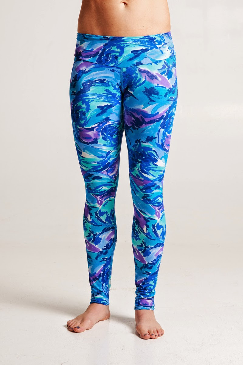 Style Athletics Zweet Sport The Tallin Legging Ocean Blue