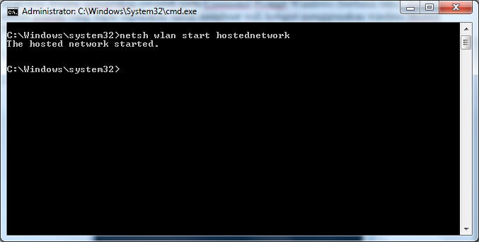 Wireless Hosted Network Command Line