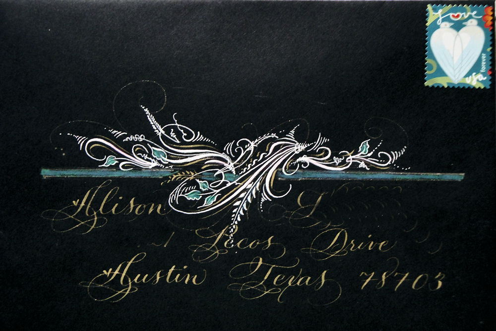 Trish Taylor Calligraphy More Flourished Pointed Pen