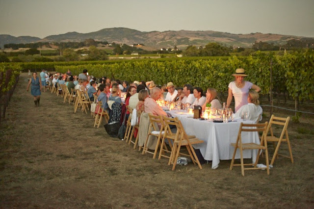 Outstanding in the field farm dinner at Robert Sinskey Winery