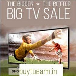 Snapdeal: Buy TVs upto 50% off + Rs. 1500 off on Rs. 20000, Rs. 4000 off on Rs. 45000