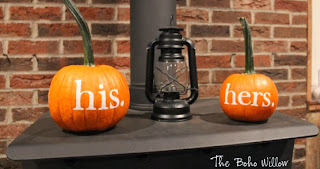 his and hers pumpkins